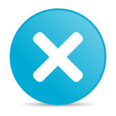 Cancel blue circle web glossy icon — Stock Photo