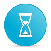 Time blue circle web glossy icon — Foto Stock