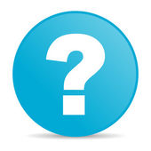 Question mark blue circle web glossy icon — Stock Photo
