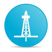 Drilling blue circle web glossy icon — Stock Photo