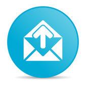 Mail blue circle web glossy icon — Stock Photo