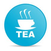 Tea blue circle web glossy icon — Stock Photo
