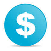 Us dollar blue circle web glossy icon — Stock Photo