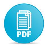 Icône de papier glacé web pdf de cercle bleu — Photo