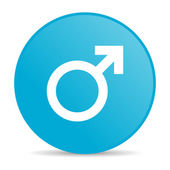 Sex blue circle web glossy icon — Stock Photo