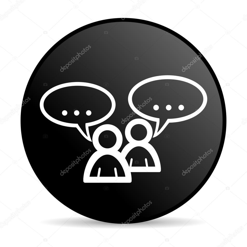 论坛黑色圆圈 web 光泽图标