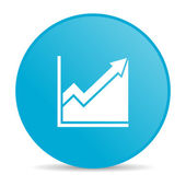 Histogram blue circle web glossy icon — Stock Photo