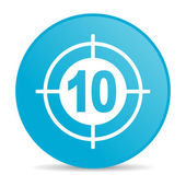 Target blue circle web glossy icon — Stock Photo