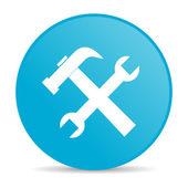 Tools blue circle web glossy icon — Stock Photo
