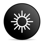 Justice black circle web glossy icon — Stock Photo