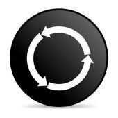 Refresh black circle web glossy icon — Stock Photo