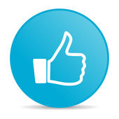Like blue circle web glossy icon — Stock Photo