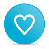 Heart blue circle web glossy icon — Stock Photo