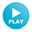 Play blue circle web glossy icon — Stock Photo