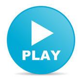 Play blue circle web glossy icon — Stock Photo