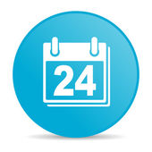 Planner blue circle web glossy icon — Stock Photo