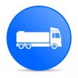 Truck blue circle web glossy icon - Stock Photo