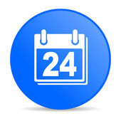 Planejador círculo azul web lustrosa ícone — Foto Stock