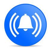 Alarm blue circle web glossy icon — Stock Photo