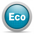 Stock Photo: Eco blue circle web glossy icon