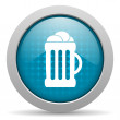 Stock Photo: Beer blue circle web glossy icon