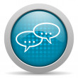 Forum blue circle web glossy icon — Stock Photo #24741633