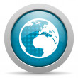 Earth blue circle web glossy icon — Stock Photo #24742765