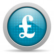 Pound blue circle web glossy icon - Stock Photo