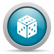 Dice blue circle web glossy icon - Stock Photo