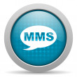 Mms blue circle web glossy icon — Stock Photo #24743155