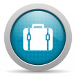 Baggage blue circle web glossy icon — Stock Photo