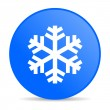 Stock Photo: Snowflake blue circle web glossy icon