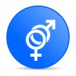 Sex blue circle web glossy icon — Stock Photo #24749361