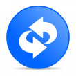 Stock Photo: Rotate blue circle web glossy icon