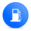 Stock Photo: Fuel blue circle web glossy icon