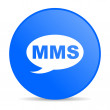 Mms blue circle web glossy icon — Stock Photo #24749837