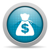 Money blue circle web glossy icon — Stock Photo