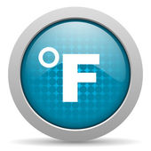 Fahrenheit blue circle web glossy icon — Stock Photo