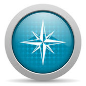 Compass blue circle web glossy icon — Stock Photo