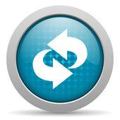 Rotate blue circle web glossy icon — Stock Photo