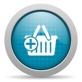 Shopping cart blue circle web glossy icon — Stock Photo