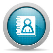 Blå cirkel web glansigt adressboksikonen — Stockfoto