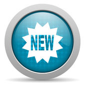 Neuer blauer Kreis Web glossy Ii — Stockfoto
