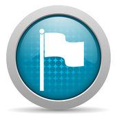 Brillante icono de bandera azul círculo web — Foto de Stock