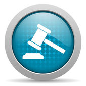 Law blue circle web glossy icon — Stock Photo