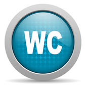 Wc blue circle web glossy icon — Stock Photo