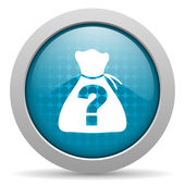 Riddle blue circle web glossy icon — Stock Photo