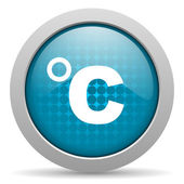 Celsius blue circle web glossy icon — Stock Photo