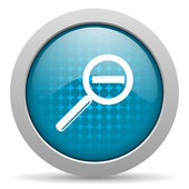 Magnification blue circle web glossy icon — Stock Photo