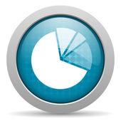 Diagram blue circle web glossy icon — Stock Photo